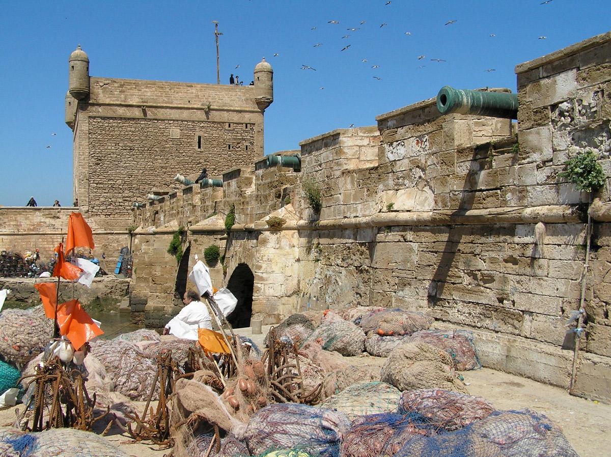 Fishing nets in Essaouira.