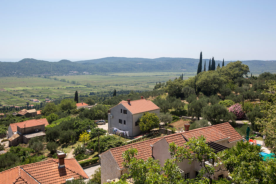 Sharing a rustic villa with sweeping views of the Konavle Valley.