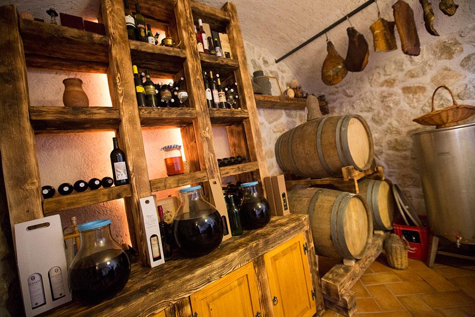The Mujo Family's Wine Cellar.