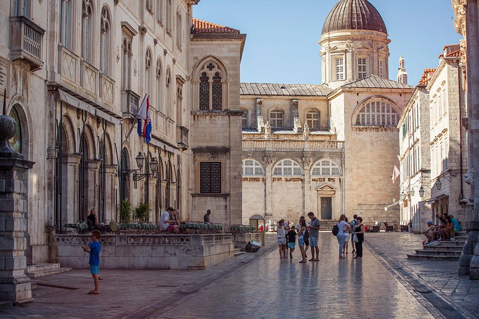 Dubrovnik's Old City square.