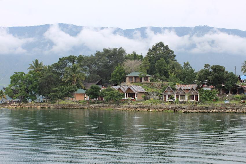 Samosir Island on Lake Toba.