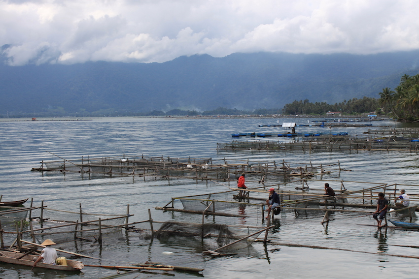 Lake Maninjau in West Sumatra.