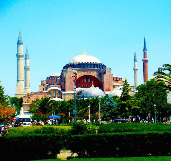 The Aya Sofya in Istanbul.