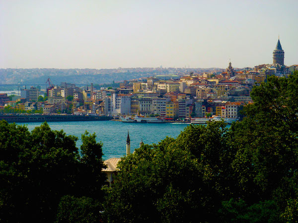 The Bosphorus River from Topkapi Palace in Istanbul.