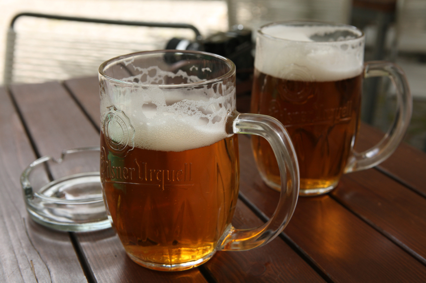 Not a stretch to see that name 'Pilsner'  comes from the town of Plzeň.