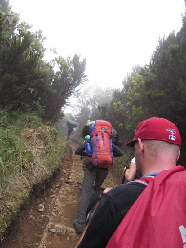 Slowly, slowly. Hiking Kilimanjaro.