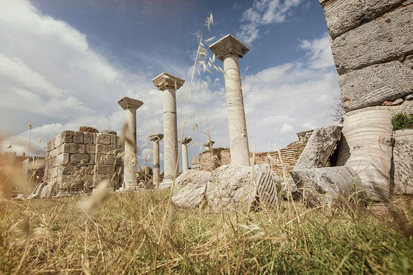 The Basilica of St. John at Ephesus in Sel?uk.
