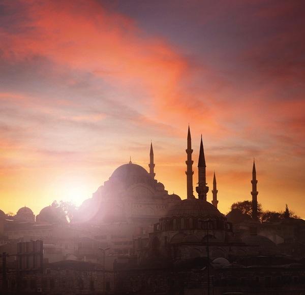 Istanbul sunset.
