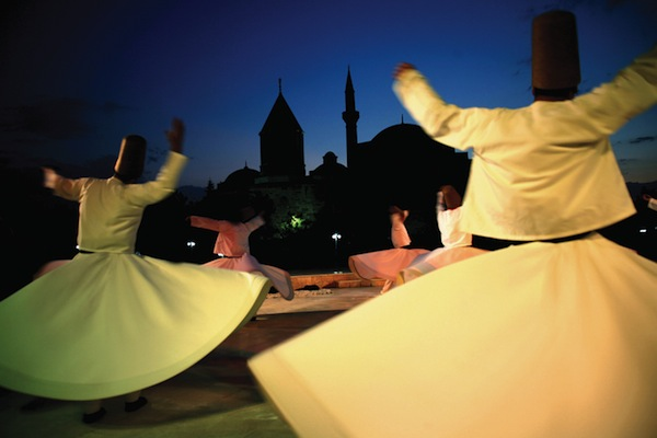Whirling Dirvishes at the Mevlana Museum.