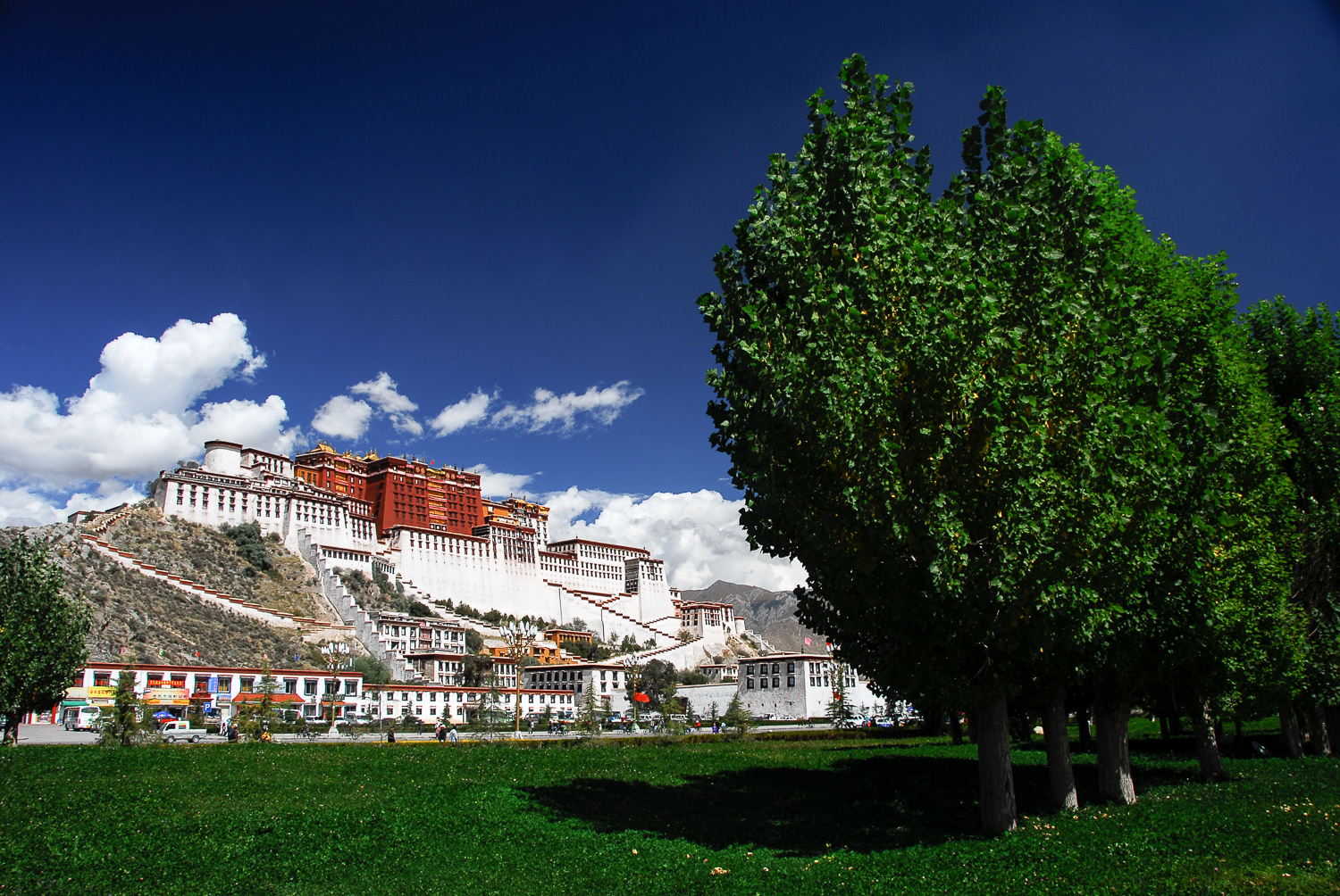 The majesty of Lhasa's Potala Palace, former chief residence of the Dalai Lama.